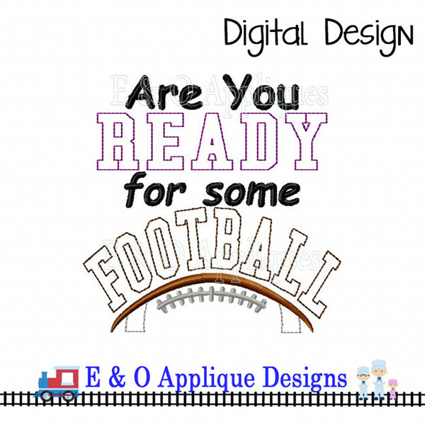 Football Saying ITH Remote Pocket Set Embroidery Design
