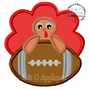 Football Turkey Boy Applique