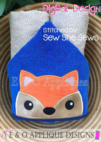 Fox Peeker Applique Design