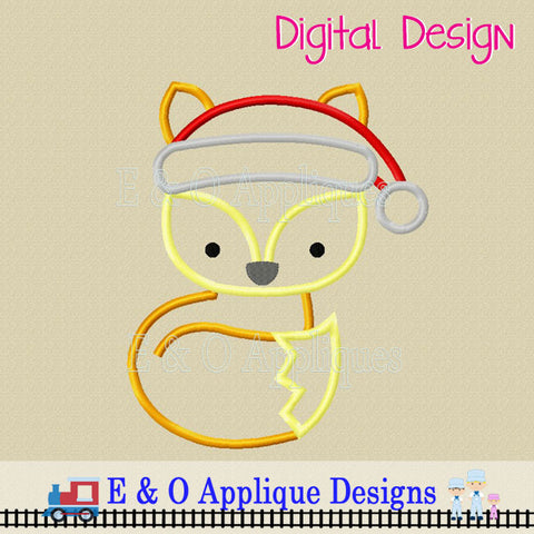 Fox Santa Applique Design