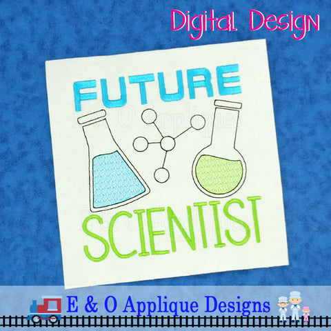 Future Scientist Sketch Embroidery Design