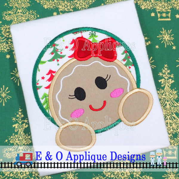 Gingerbread Girl Peakin Digital Applique Design