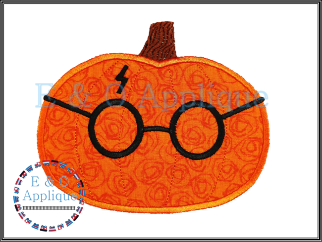 HP Inspired Pumpkin Applique