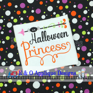 Halloween Princess Digital Embroidery Design