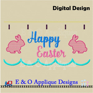 In The Hoop Table Runner - Happy Easter 200 x 360 Hoop
