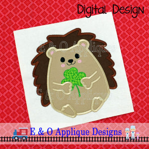 Hedgehog Clover Applique Design