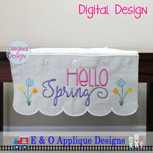 In The Hoop Table Runner - Hello Spring 200 x 360 Hoop