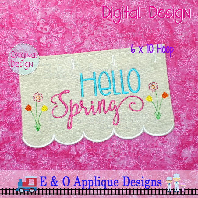 In The Hoop Table Runner - Hello Spring 6 x 10 Hoop