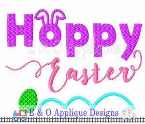 Hoppy Easter Embroidery Design