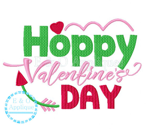 Hoppy Valentine's Days Embroidery Design
