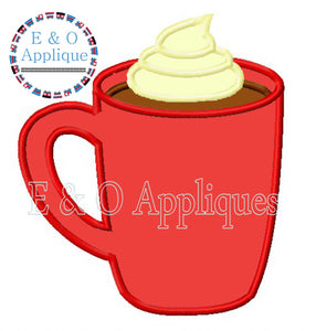 Hot Chocolate Mug Applique
