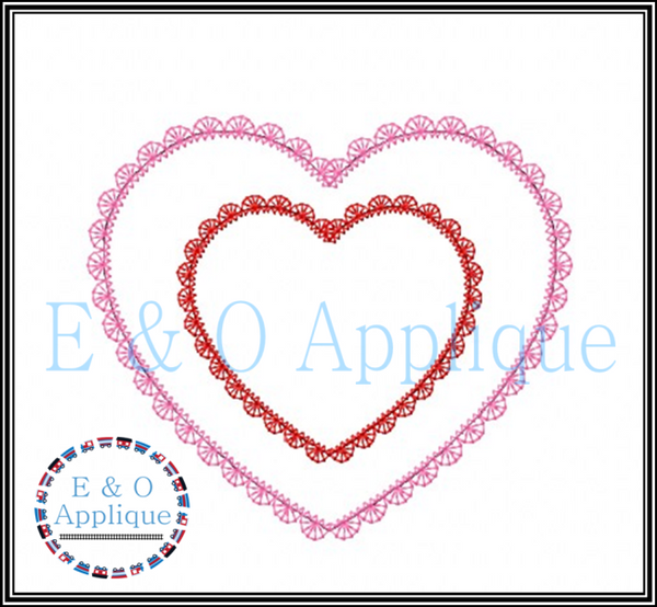 Lace Hearts Applique