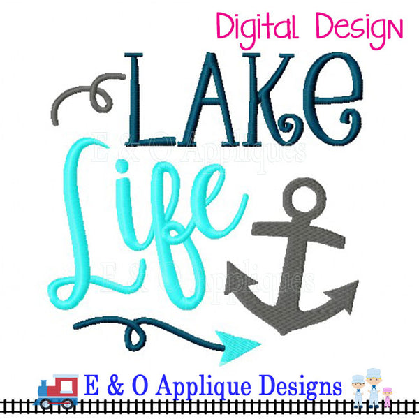 Lake Life Embroidery Design