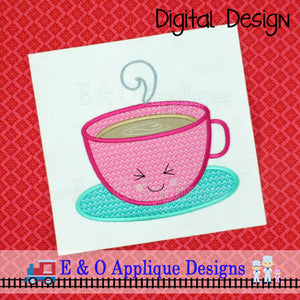 Latte Kawaii Applique Design
