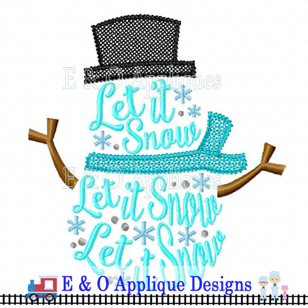 Let It Snow Digital Embroidery Design