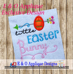 Little Easter Bunny Arrow Embroidery Design