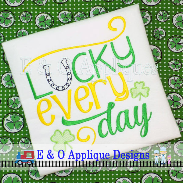 Lucky Every Day Digital Embroidery Design