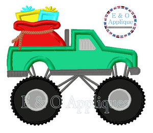 Monster Truck Santa's SackApplique Design