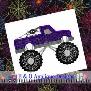 Monster Truck Spiderweb Digital Applique Design
