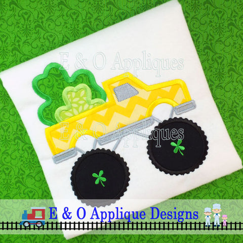 Monster Truck St Patrick's Digital Applique Design