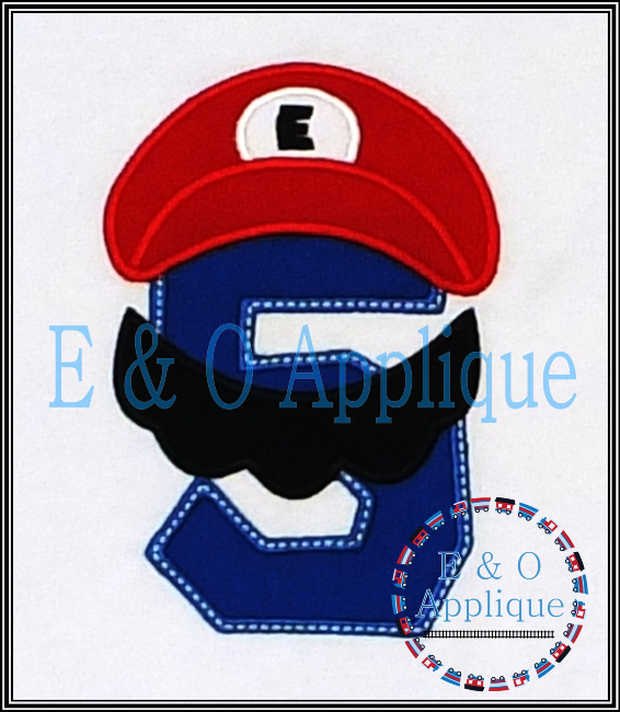 Plumber Bros Inspired 5 Birthday Applique