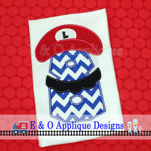 Plumber Bros Inspired 8 Birthday Applique