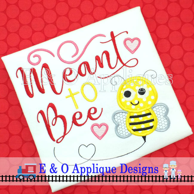 Meant to Bee Digital Embroidery Design