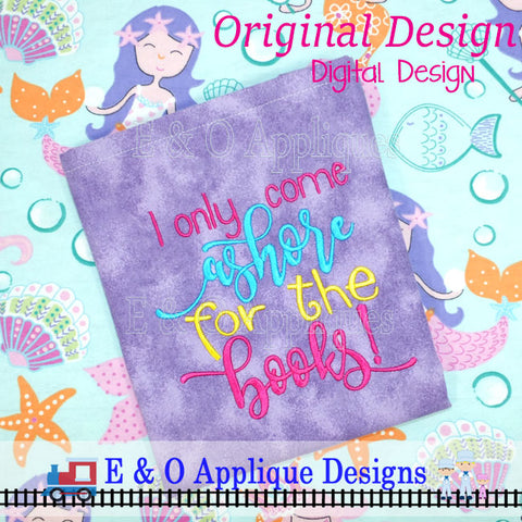 Mermaid Book Saying Embroidery Design