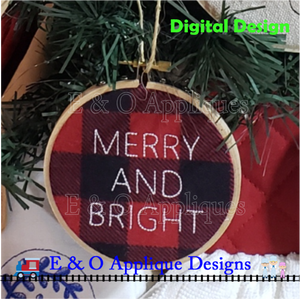 Merry And Bright Bean Stitch Embroidery