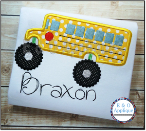 Monster Schoolbus Applique