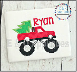Monster Truck Tree Applique