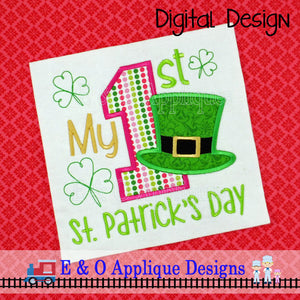 My 1st St Patrick's Day Applique Design