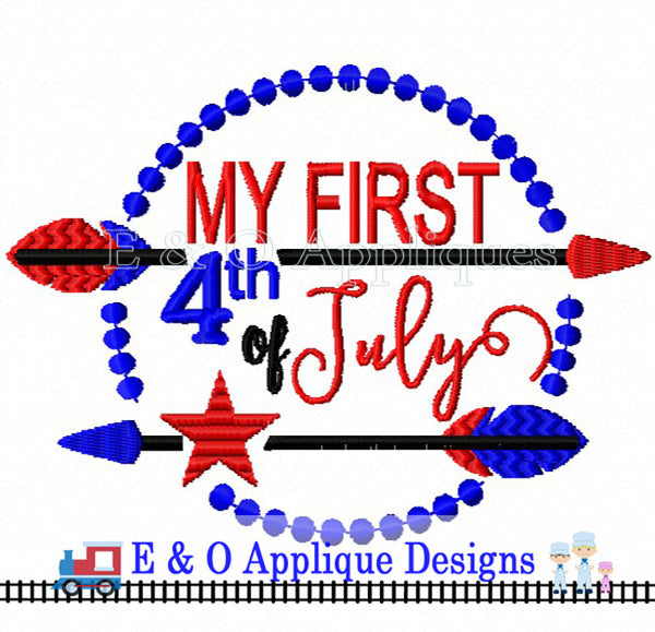 My First 4th of July Arrow Embroidery Design