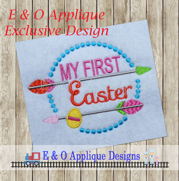 My First Easter Arrow Embroidery Design