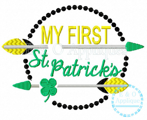My First St Patrick's Embroidery Design