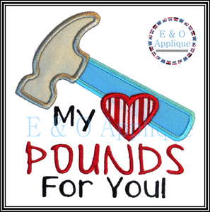 My Heart Pounds for You Applique