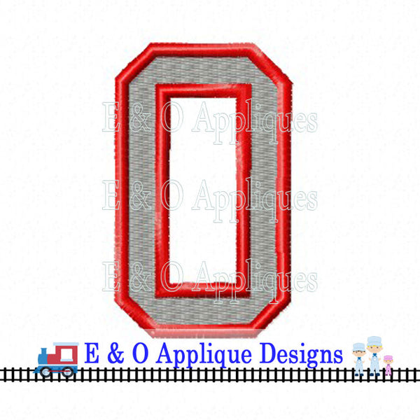 Ohio O Digital Embroidery Design