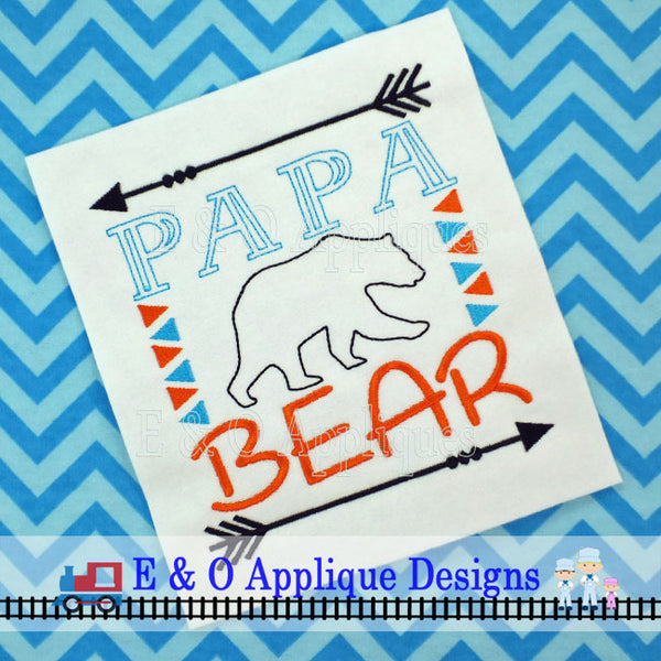 Bear Family Set Embroidery Design