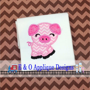 Pig Digital Machine Applique Design