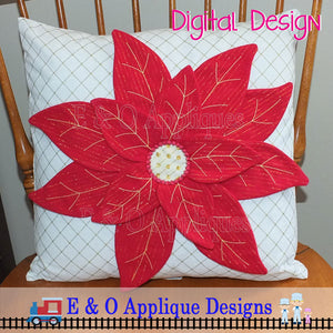 Poinsettia In The Hoop Design