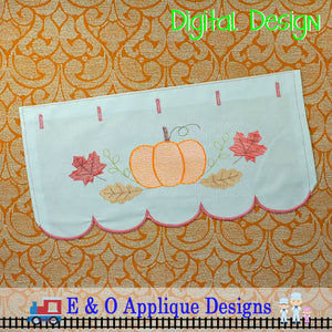 In The Hoop Table Runner - Pumpkin Swash 200 x 360 Hoop
