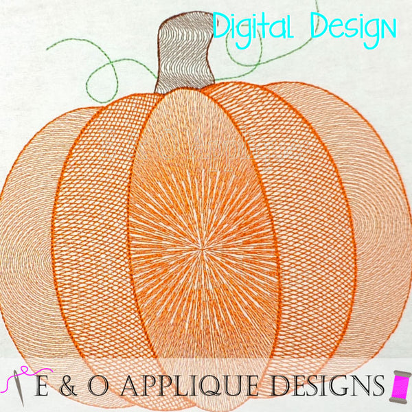 Pumpkin Motif Fill Embroidery Design
