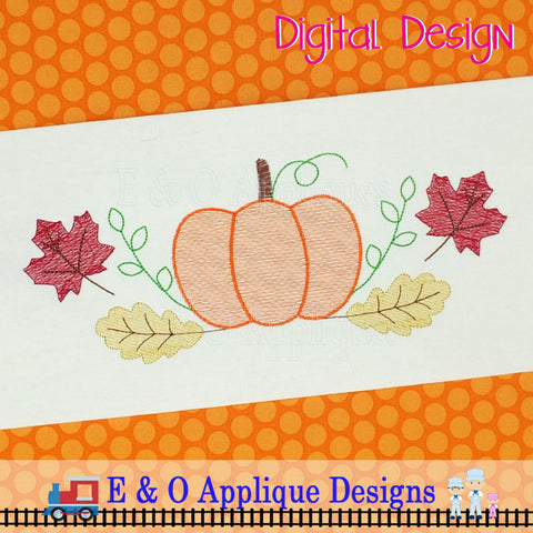 Pumpkin Swash Sketchy Embroidery Design