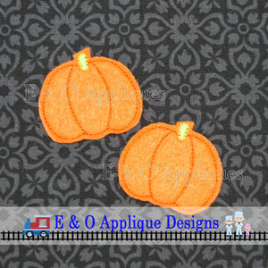 Pumpkin Feltie In The Hoop Digital Embroidery Design