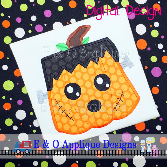 Pumpkin Frank Applique Design