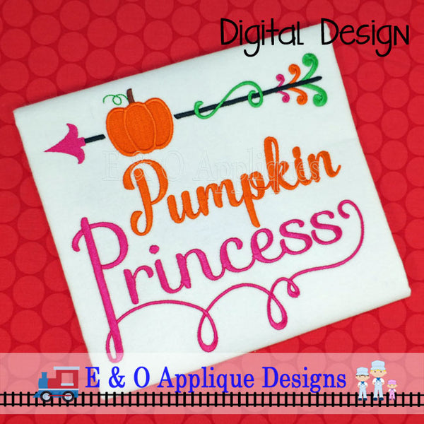Pumpkin Princess Embroidery Design