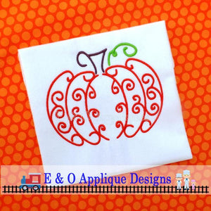 Swirly Pumpkin Digital Embroidery Design