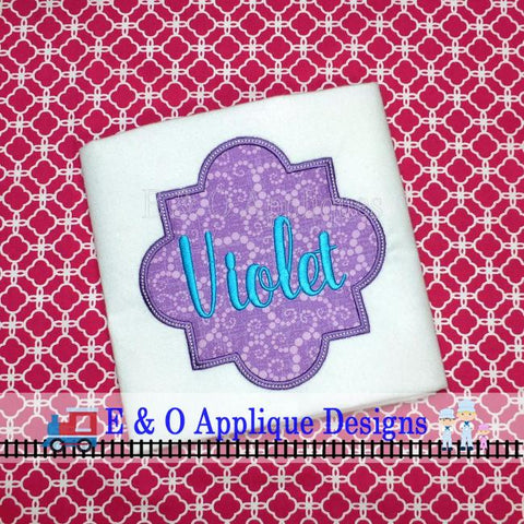 Quaterfoil Frame Digital Applique Design