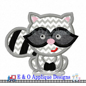 Raccoon Digital Applique Design
