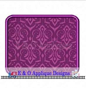 Rectangle Satin Stitch with Bean Stitch Applique Design